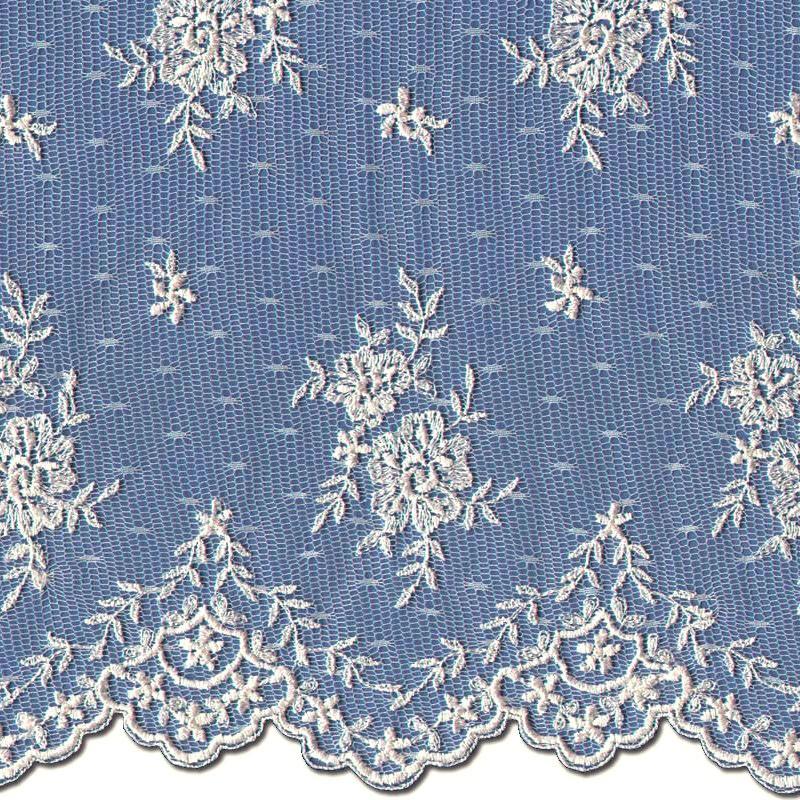 Medium Ivory Wedding Lace Fabric 3865
