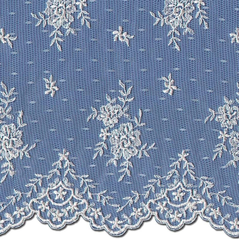 Pale Ivory Wedding Lace Fabric 3865