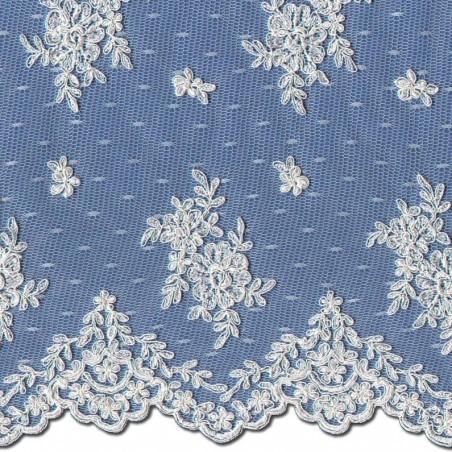 Pale Ivory Chantilly Lace Wedding Fabric 3865C