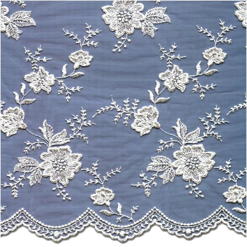 White Wedding Lace Fabric 3866