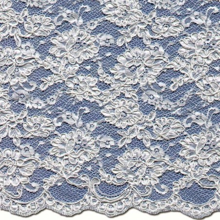 Pale Ivory Corded Wedding Lace Fabric 3872C