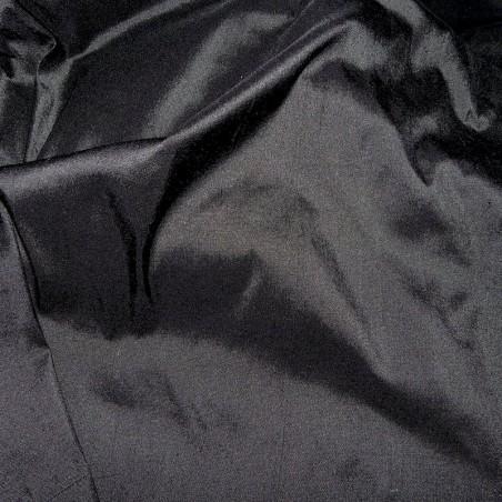 Black Dupion Silk Fabric 4238