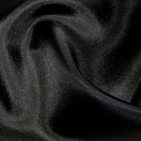 Black Silk Habotai Lining Dress Fabric 4253