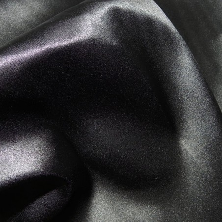 Black Stretch Satin Fabric Silk 4265