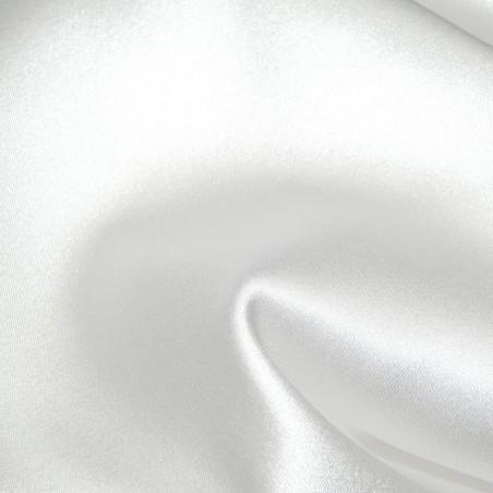 White Stretch Satin Fabric Silk 4265