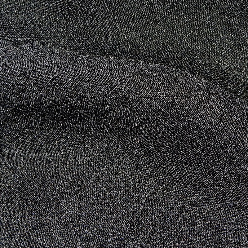 Black Silk Georgette Wedding Fabric 4272