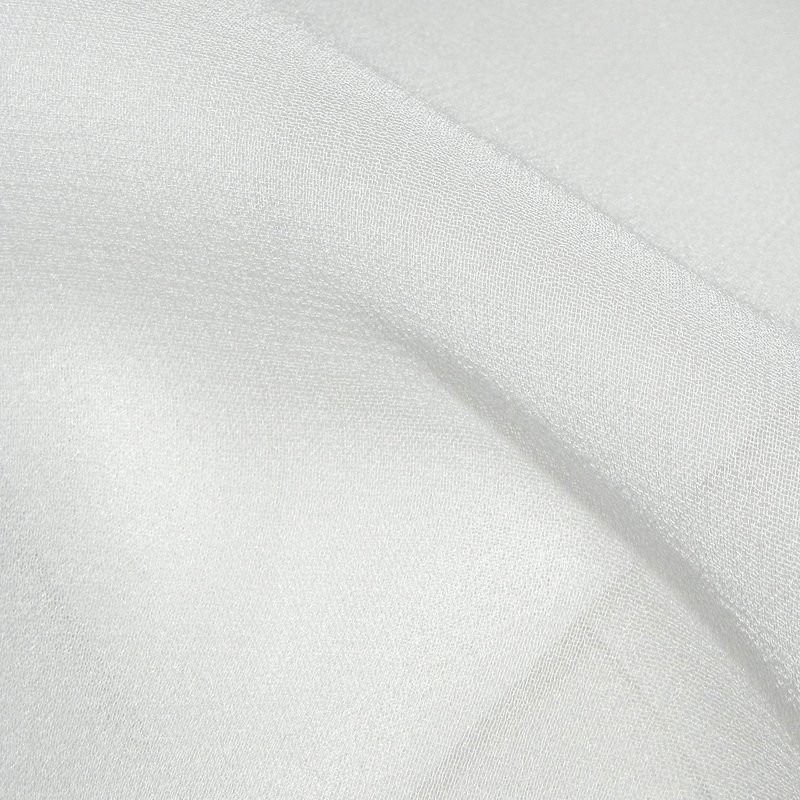 White Silk Georgette Wedding Fabric 4272