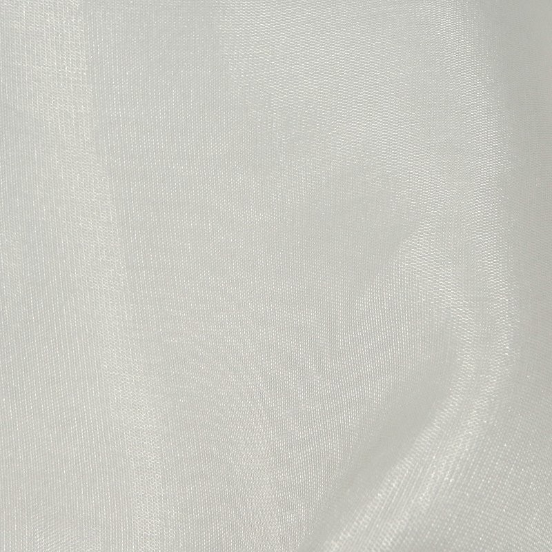 Ivory Soft Italian Organza Silk Dress Fabric 4293