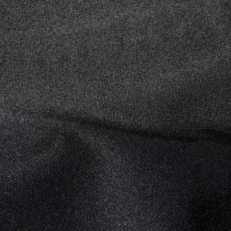 Black Stretch Duchess Silk Mix 4294