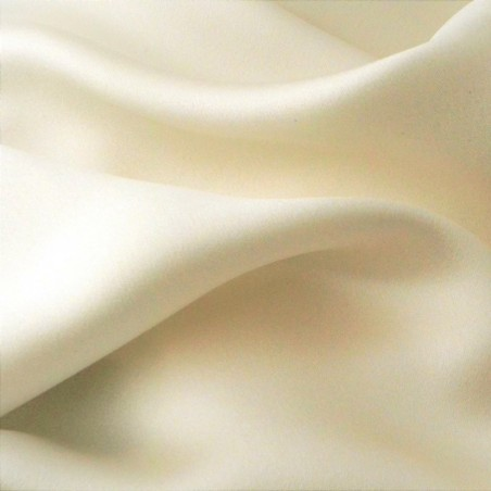 Pale Ivory Heavy Silk Crepe back Satin 4346