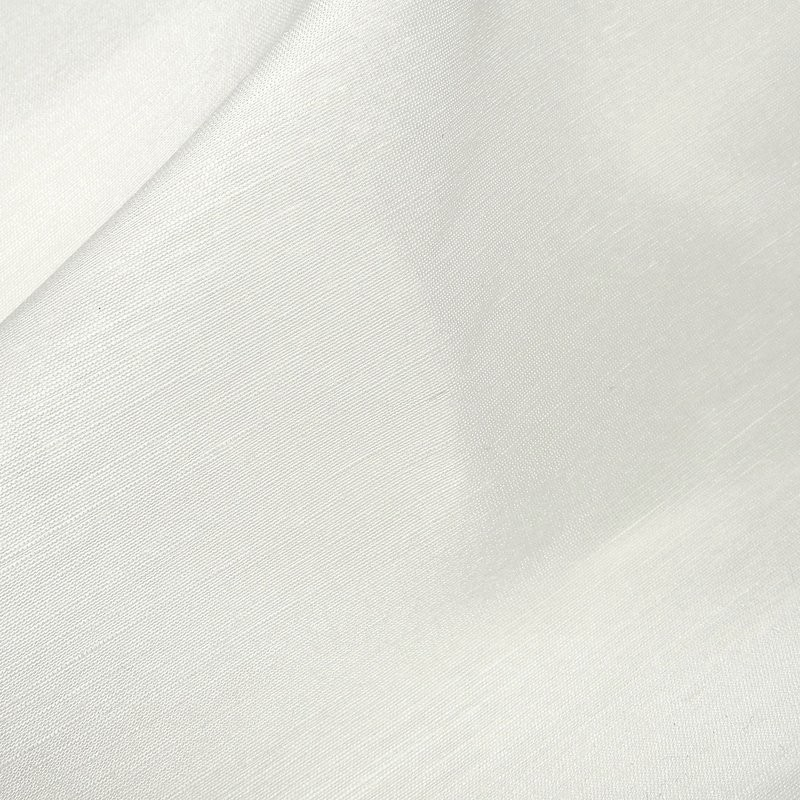 Ivory Linen Dress Fabric with silk 4385