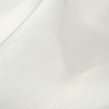 Ivory Linen Fabric with Silk 4385