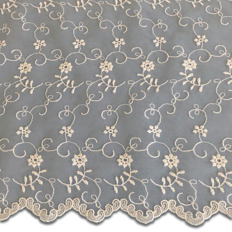 Ivory-White Wedding Lace Fabric 4426