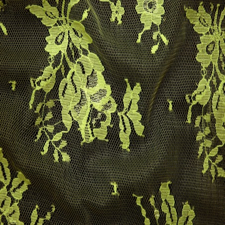 Lime Wedding Lace Fabric 4428
