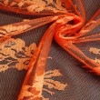 Burnt Orange Wedding Lace Fabric 4428