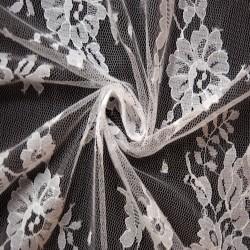 White Wedding Lace Fabric 4428