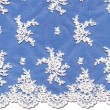 White Chantilly Lace Wedding Fabric 4438C