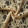 Cappuccino Corded Wedding Lace Fabric 4441C