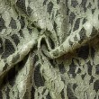 Olive Corded Wedding Lace Fabric 4441C