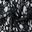 Black Corded Wedding Lace Fabric 4441C