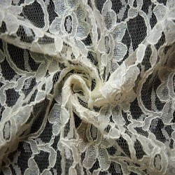 Ivory Corded Wedding Lace Fabric 4441C
