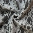 Silver Corded Wedding Lace Fabric 4441C