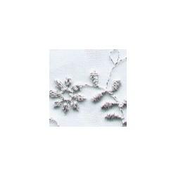 PowderWhtSilver Wedding Lace Fabric 4446