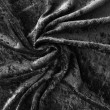 Black Crushed Velour Stretch Wedding Fabric 4741