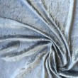 Silver Crushed Velour Stretch Wedding Fabric 4741