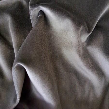 Gunmetal Cotton Velvet Fabric 4789