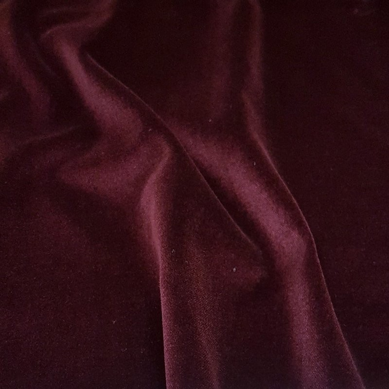 Wine Cotton Velvet Fabric 4789
