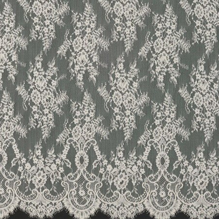 Ecru Chantilly Lace Wedding Fabric 6417