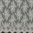 Ecru Chantilly Lace Wedding Fabric 6417