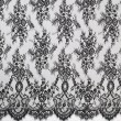 Black Chantilly Lace Wedding Fabric 6417