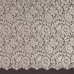 Champagne French Corded Dress Lace Fabric 6418C