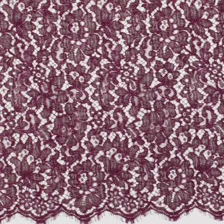 RoyalPurple French Corded Dress Lace Fabric 6418C