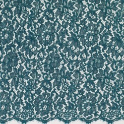 PeacockGreen French Corded Dress Lace Fabric 6418C