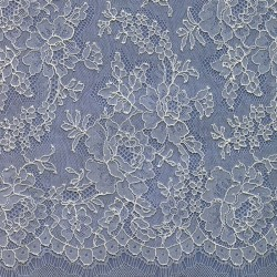 Ivory French Chantilly Lace Dress Fabric 7034