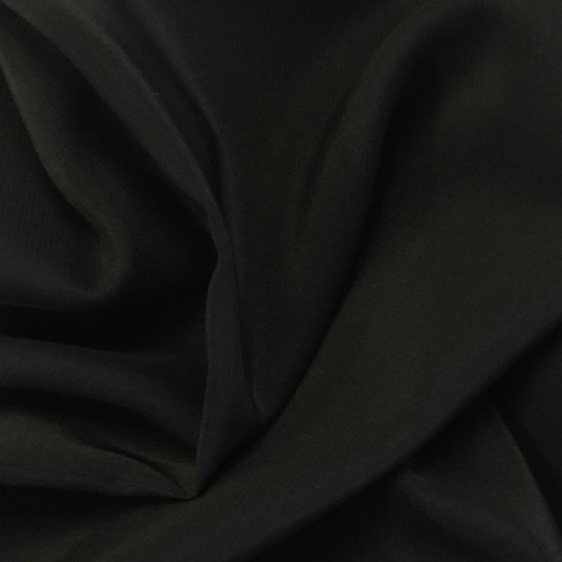 Black Heavy Crepe - Satin back 7800