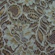 DuckEgg+Brown Corded Wedding Lace Fabric 9013C
