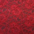Post Box Red 2-tone Corded Wedding Lace Fabric 9013C