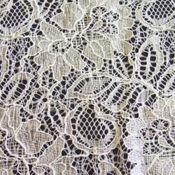 Ivory Corded Wedding Lace Fabric 9013C