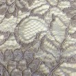 Silver Corded Wedding Lace Fabric 9013C