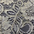 White Corded Wedding Lace Fabric 9013C