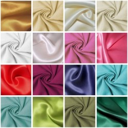 Dress Fabric | Silk Satin | Dressmaking | Wedding Fabric at Harrington