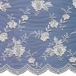 Wedding Lace Fabric 3866