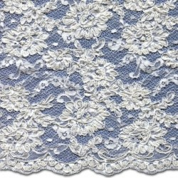 Beaded Wedding Lace Fabric 3872BCS | Bridal Lace Fabric | Cord | Buy