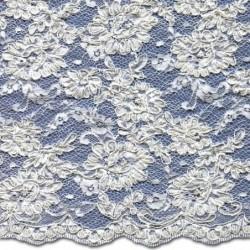 Beaded Wedding Lace Fabric 3872BCS