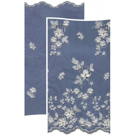 Beads & Flowers Dress Lace Fabric 3882BFS | Wedding Lace Fabric | Buy