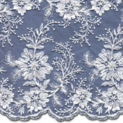 Beaded Wedding Lace Fabric 3885BS